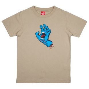 T Shirt Youth Screaming Hand Light Olive