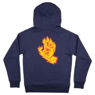 Youth Flame Hand Hood Dark Navy