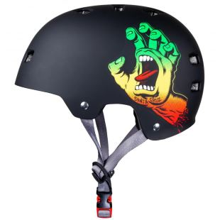Bullet Helmet Screaming Hand Rasta + Mousses