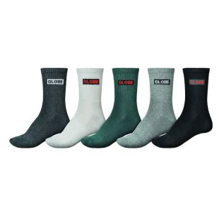 Hilite Crew Sock 5Pack Assorted 7-11