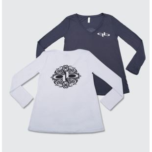 Womens Long Sleeve V Neck
