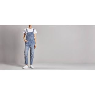 W Bib Overall Blue Light Stone Washed