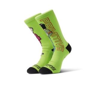 Primitive Socks Androids Neon Green