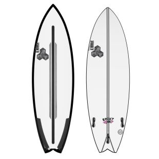 "Rocket Wide - Spine Tek - 5'8 x 19"" 1/2 x 2"" 1/2 - 30.26 L - Thruster - FCS II"
