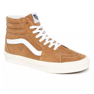 Sk8 Hi (Pig Suede) Brown Sugar White