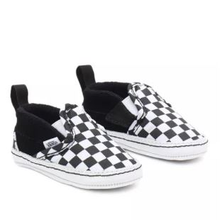 Slip-On V Crib Checker Black True White
