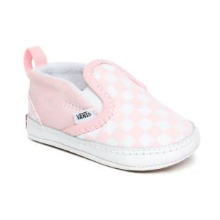Slip-On V Crib Checker Blushing Bride True White
