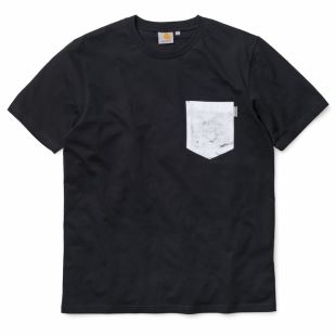 SS Olson Pocket T Shirt Blk Marble White