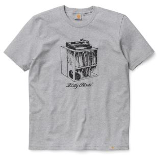 SS Play Plastic T Shirt Grey Heather Blk