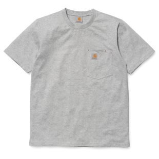 SS State Pocket T Shirt Grey Heather