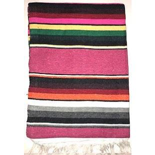 Couverture Mex Blanket Mexicaine - Cotton Serape - Hot Pink