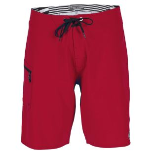 Lido Solid Boardshort RED