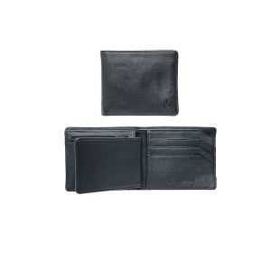 Satellite Big Bill Bi Fold ID Coin Wallet All Blk