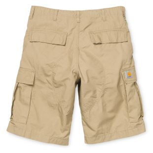 Regular Cargo Short Leather Rinsed