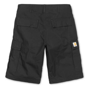 Regular Cargo Short Black Rinsed