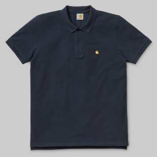 SS Slim Fit Polo Navy Gold