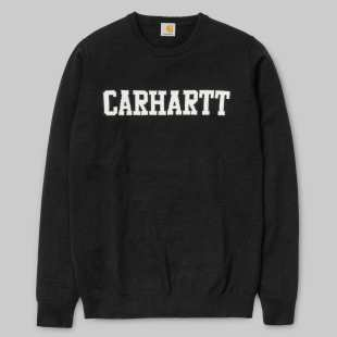 College Sweater Lambswool / Black / Snow