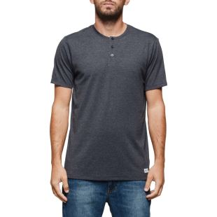 Basic Henley SS Charcoal Heather