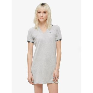 NO 89 Polo Dress Heather Grey