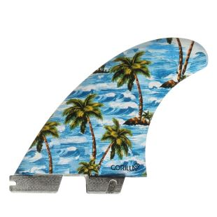 FCS II Sloth palm Trend Large  tri-quad Fins