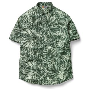 S/S Cayman Shirt Planet Palm Print Rinsed