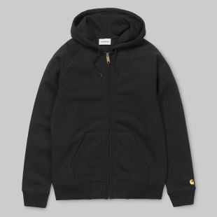 Hooded Chase Jacket Black Gold