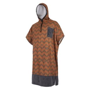 Poncho Allover - seal/ brown gold