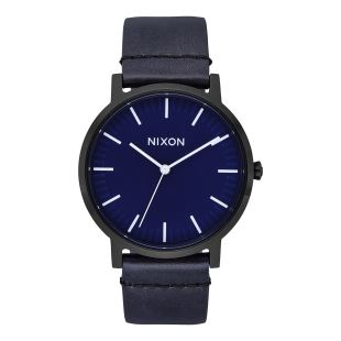 Porter Leather All Black Dark Blue