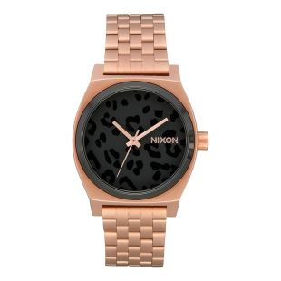 Medium Time Teller All Rose Gold Black Cheetah