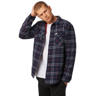 AR Plaid LS New Navy
