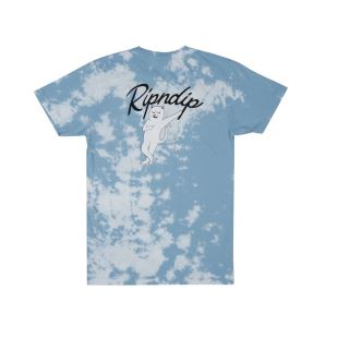 Relax Tee Blue White Cloud Wash