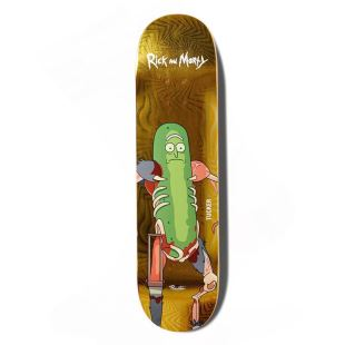 Deck R&M II Trucker Pickle Rick 8.25 Yellow