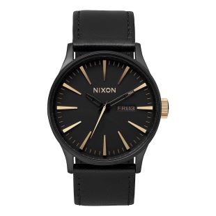 Sentry Leather Matte Black Gold